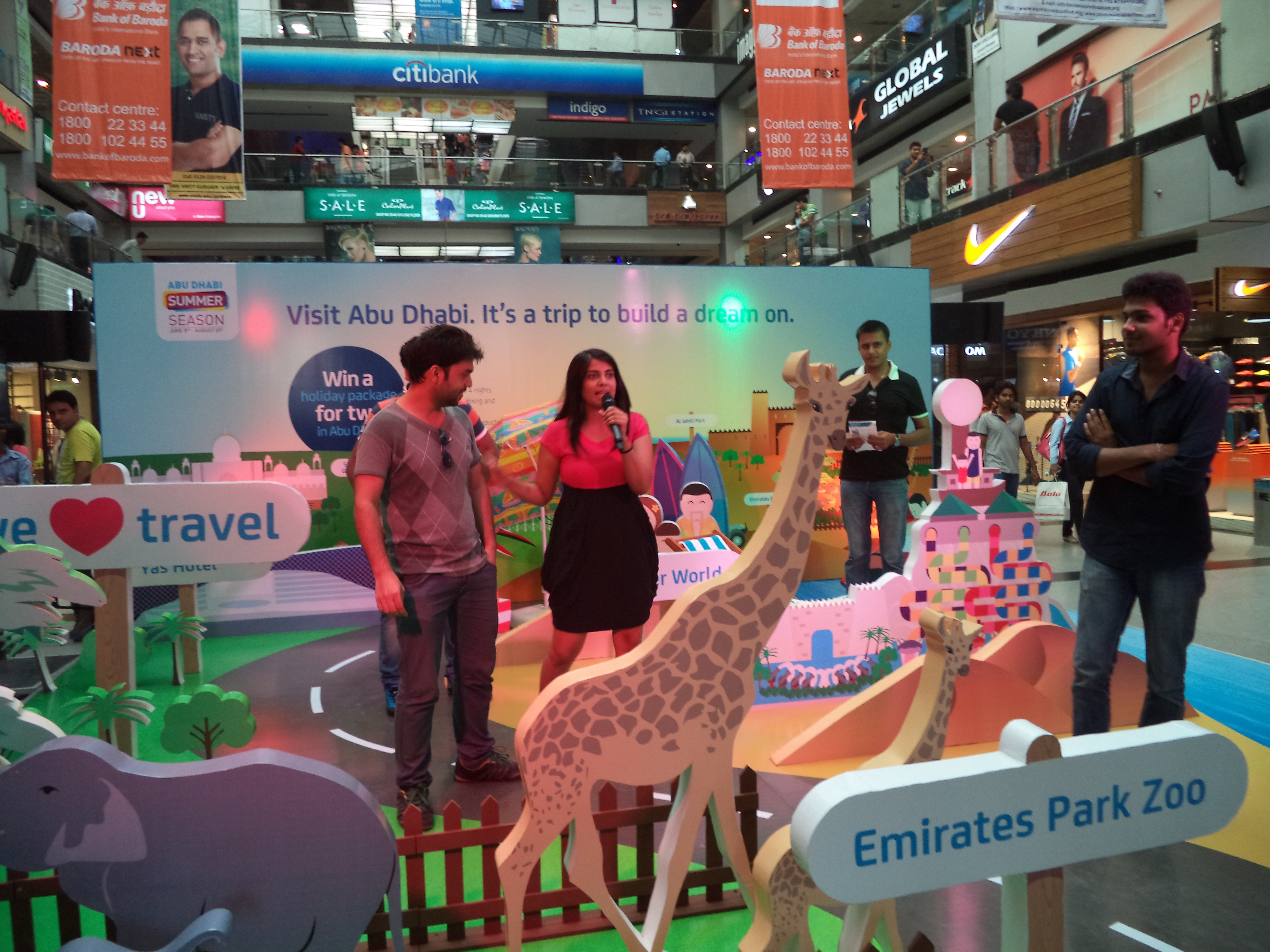 Dnata Airlines Mall Activation